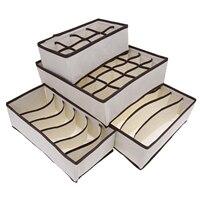 4 قطع مجموعة طوي منظم تخزين مربع لل علاقات داخلية البرازيلي الجوارب