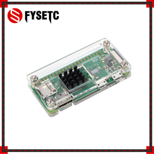 Heat-Sink Acrylic-Case Raspberry Pi Zero Aluminum Black for Zero-V/1.3-Board Transparent-Box