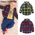 2017 New Spring Fashion Baby Boy Clothes 3pcs clothing for babies boys tracksuit monkey sweatershirt+plaid shirt+casual trousers
