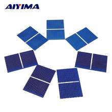 AIYIMA 100pcs Solar Panel Sunpower Solar Cell photovoltaic panels Polycrystalline DIY Solar Battery Charger 0.5V 0.17W 39x26mm