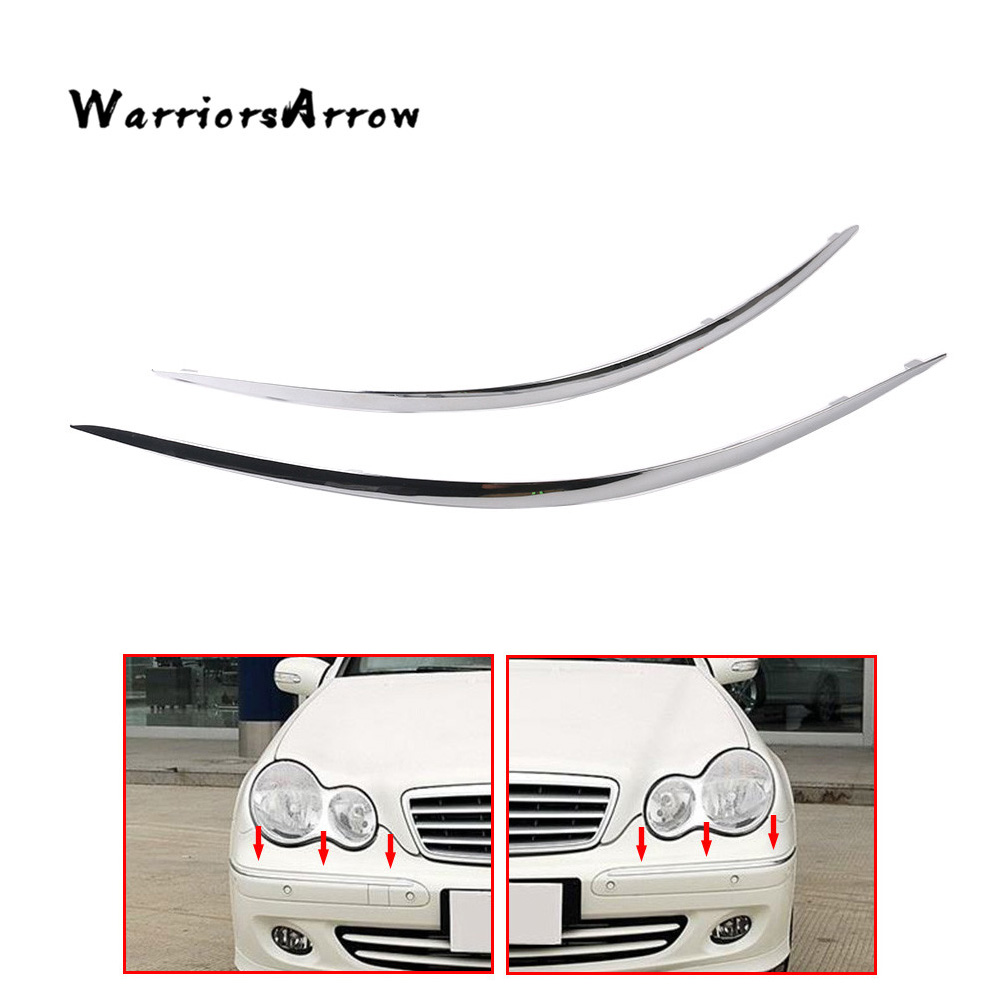 Garage-Pro Front Bumper Trim for MERCEDES BENZ G63//G65 AMG 2013-2017 LH Cover Extension Chrome Steel