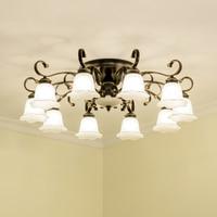 Антикварная потолочные светильники для гостиной классика потолочные светильники для столовой потолок лампы деревенский Подвески потолоч