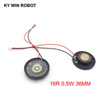 2pcs/lot New Ultra-thin Toy-car horn 16 ohms 0.5 watt 0.5W 16R speaker Diameter 36MM 3.6CM with PH2.0 terminal wire length 10CM