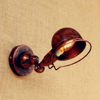E14 جدار مصابيح loft خمر سوينغ الذراع الجدار مصباح Led lamparas دي باريد مقبض قابل للتعديل المعادن ريفي الجدار الخفيفة الشمعدان تركيبات