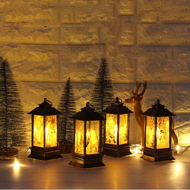 1 pcs christmas candle with led tea light candles for christmas decoration part led llight candle - Christmas Candle Holders Decorations