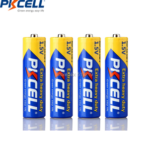 Image 2 - 20Pcs/PKCELL AA Battery 1.5v R6P UM3 Carbon Duty batteries 2A Primary and Dry Batteries for camera calculator mp3 player ect