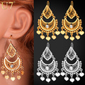 U7 Indian Jewelry Classic Dangle Earrings Party Gift Yellow Gold Plated Rhinestone Drop Earrings For Women E3030