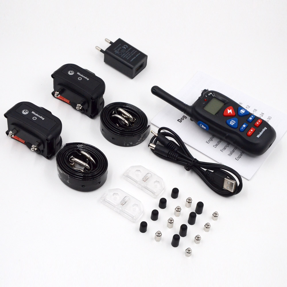 Dog Training Collar Rechargeable Electric Shock Vibration sound  5