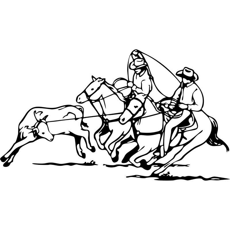team roping coloring pages - photo#3