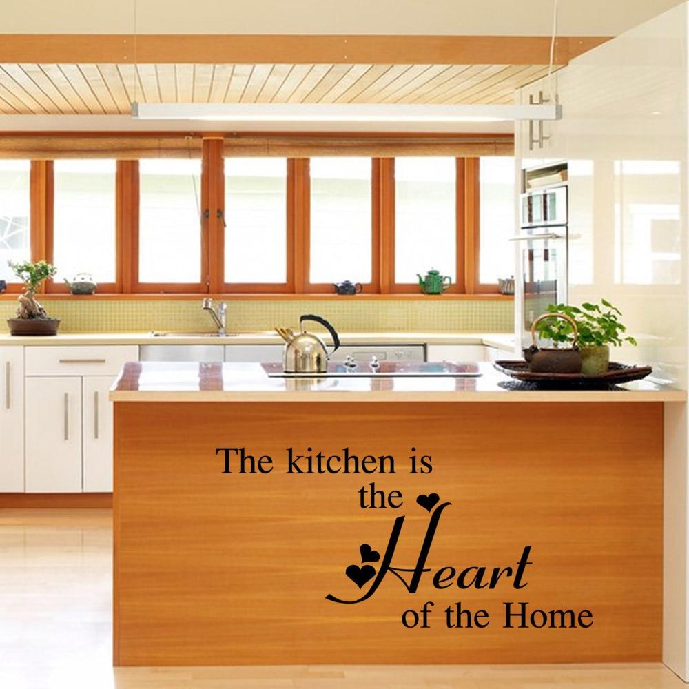 Küche ist Das Herz Zitate Wandaufkleber Wohnzimmer Wasserdichte ...