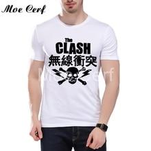 The Clash Band T-shirt  London Calling music t Shirts New Arrival Summer Punk Short Sleeve T Shirt Cool Hipster Boy Tees L12-25