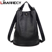 Anti theft Backpack Female Brand Leather Women's Backpack Large Capacity Travel Bag Simple Black Shoulder Bags for Women 2018