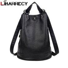 Anti theft sırt çantası kadın marka deri kadın sırt çantası büyük kapasiteli seyahat çantası basit siyah omuz çantaları kadınlar için 2018