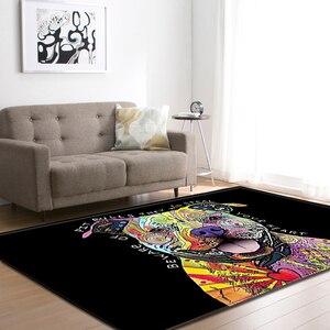 Image 4 - Cartoon Large Living Room Carpet 3D Pet Shapi Dog Tea Table Rugs Home Decor Baby Crawling Mat Kid Bedroom Area Rug Carpet