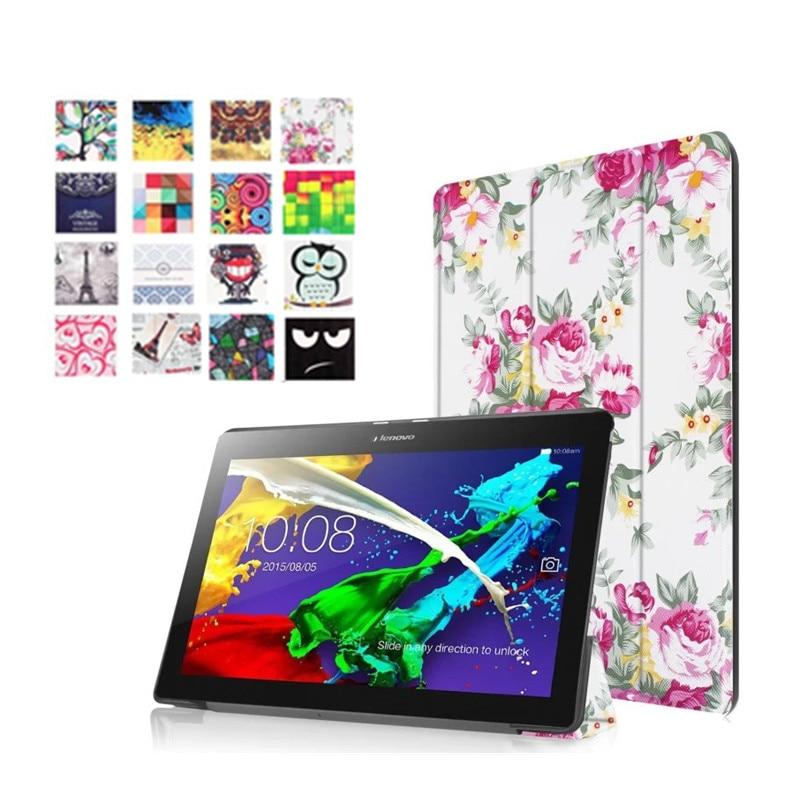 Lenovo Tab3 10 Için YNMIWEI artı Renkli Baskı Deri Kılıf için lenovo tab 2 a10-70 TB3-X70L TAB-X103 Tab2 A10-70F Akıllı vaka
