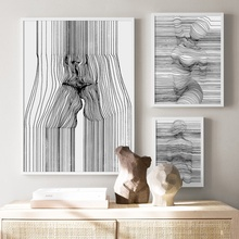 Sexy Woman Abstract Body Art Curve Line Wall Canvas Painting Nordic Posters And Prints Pictures For Living Room Decor