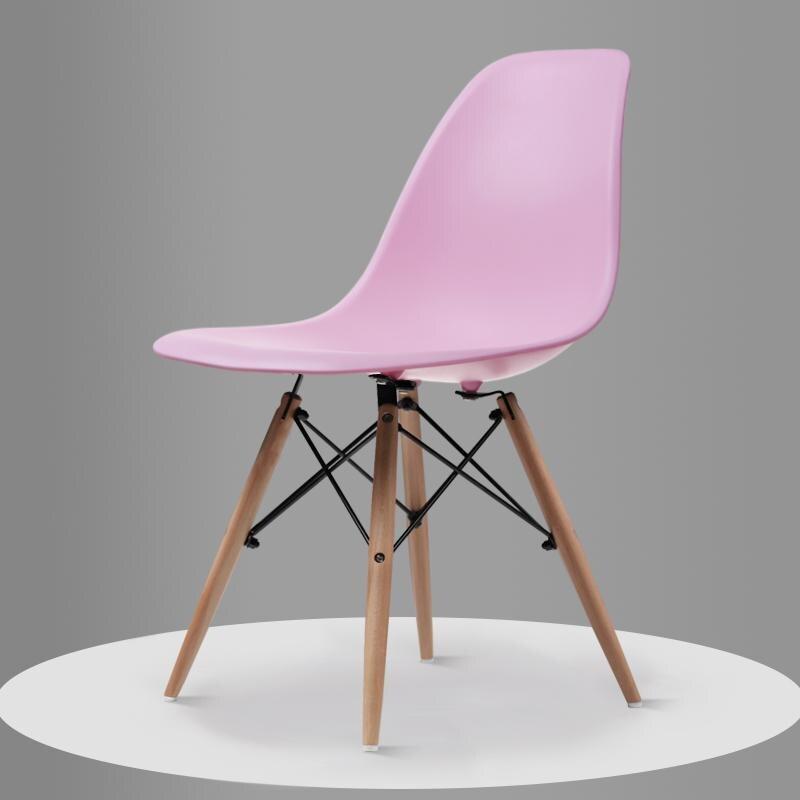 Скандинавский обеденный стол и стулья, современный минималистичный креативный компьютерный офисный стул, повседневный домашний пластиковый кофейный стул - Цвет: Style 3