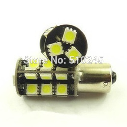 50x wholesale cheap 1156 27 SMD 5050smd 27 leds Amber Yellow CANBUS OBC Error Free Tail LED Light Bulb Lamp free shipping