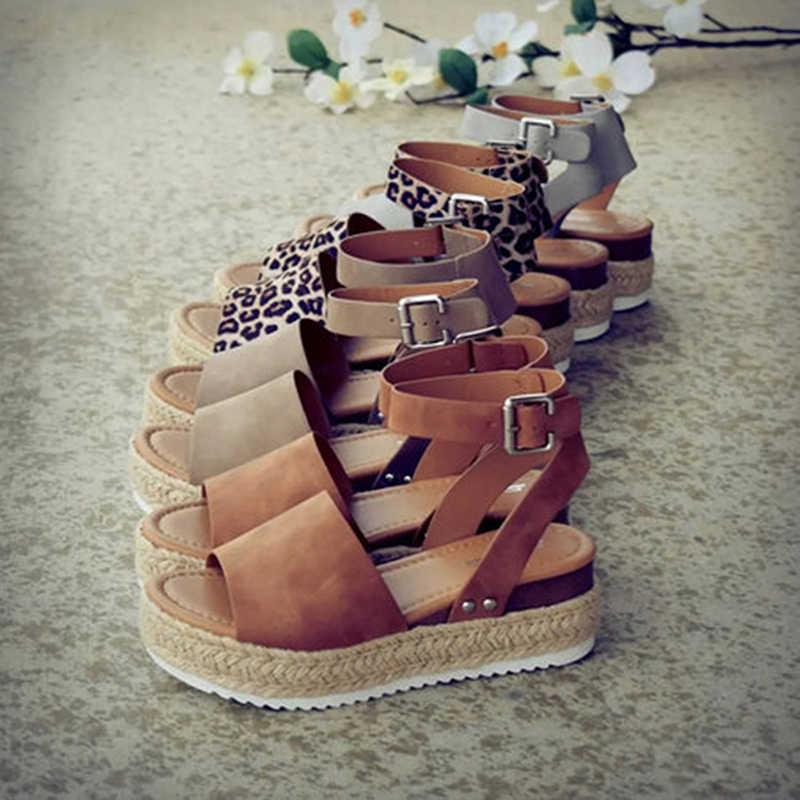 LZJ Zeppe Scarpe Per Le Donne Dei Sandali Più Il Formato Tacchi Alti Scarpe Estate 2019 Flop Chaussures Femme Sandali Della Piattaforma # Nuovo
