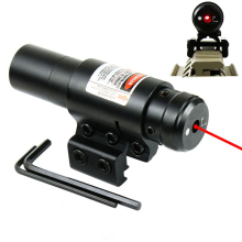 Rød lasersight med 20mm / 11mm Rail Mount Jagt Airsoftsport Gun Slot Laser Sight Huntting Taktisk Optik Værktøj QZ0130