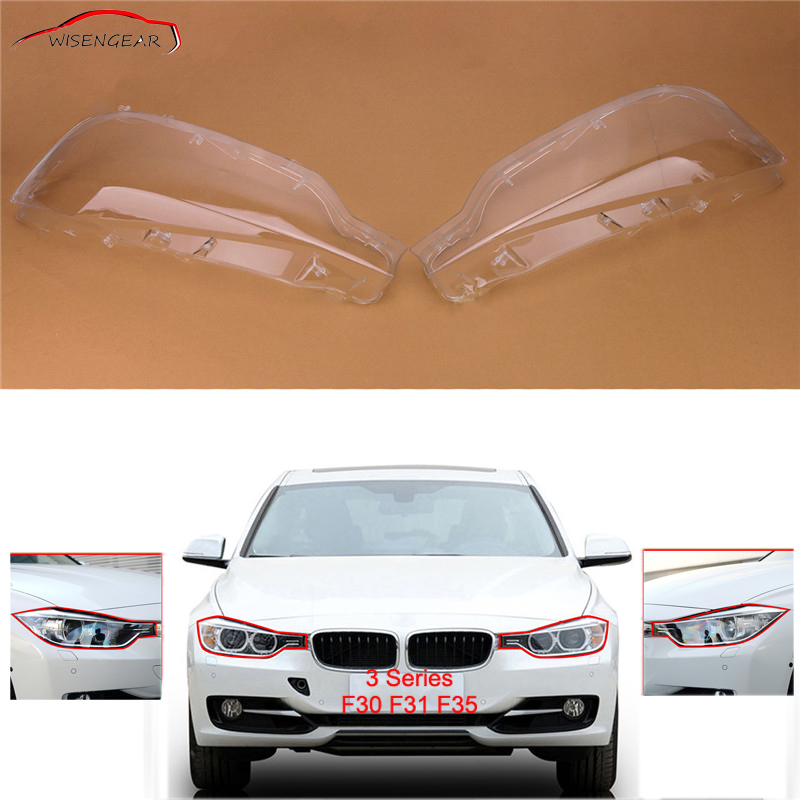 RTD For BMW F30 Head Lamp Light Shade Dust Cover Car Headlight Headlamp Lens Plastic Shell Cap 3 Series F31 F35 320i 328i C/5 motorcycle scooter electroplate front headlight headlamp head light lamp small mask cap cover shield large for yamaha bws x 125