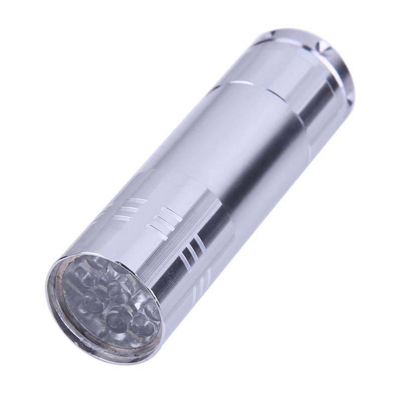 Pen Light Portable Mini LED Flashlight Torch 9 LED Small LED Flashlight Hunting Camping Light By 3*AAABattery