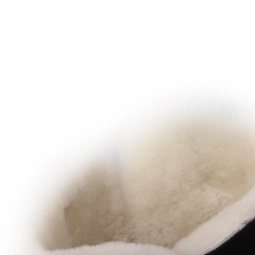 Vellón Real Botas Mujer Zapatos Nieve Kickway Plana Piel Plush Casuales 40 34 Plataforma De Black Más Cálido Tamaño Invierno Thick A0qxIwP