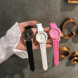 2019 новый простой мягкий девушка Harajuku стиль японский простой моды небольшой свежий дикий тенденция Силиконовые кварцевые часы Reloj Mujer