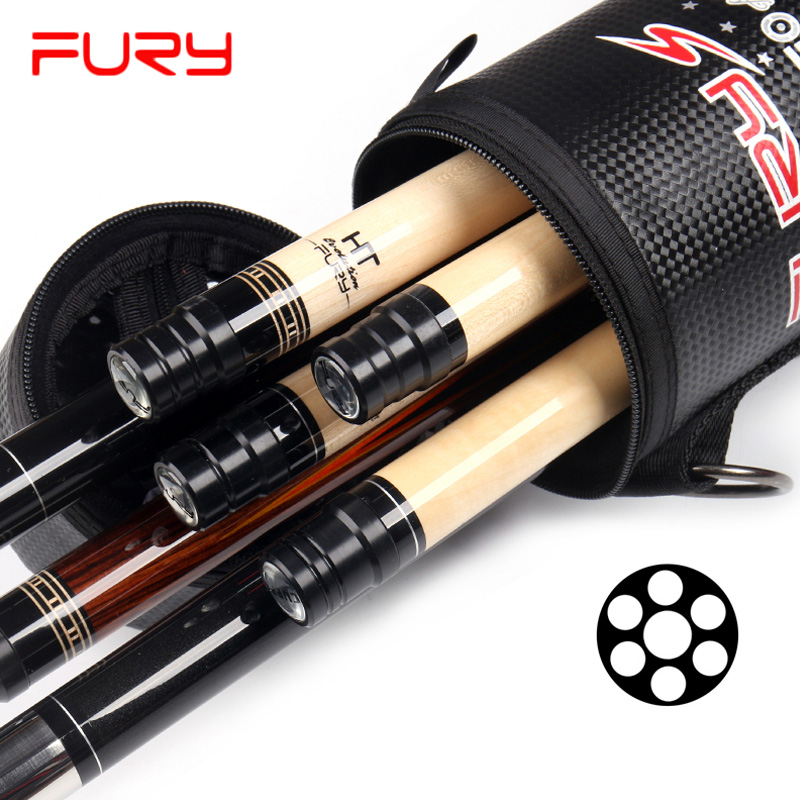 FURY 4 Shafts 3 Butts Pool Cue Case Billiard Accessories Black White Camouflage Color China