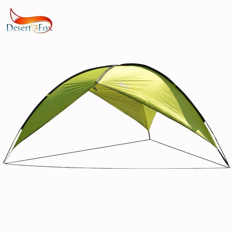 Desert&Fox Sun Shelter Beach Tent 4.8*4.8*2m Outdoor Camping Travel Picnic Waterproof Large Space Shade with Portable Handbag цена