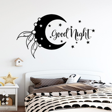 New Design Phrase Good Night Wall Stickers For Babys Rooms Vinyl Mural Bedroom Art Decal Wallpaper vinilos frases