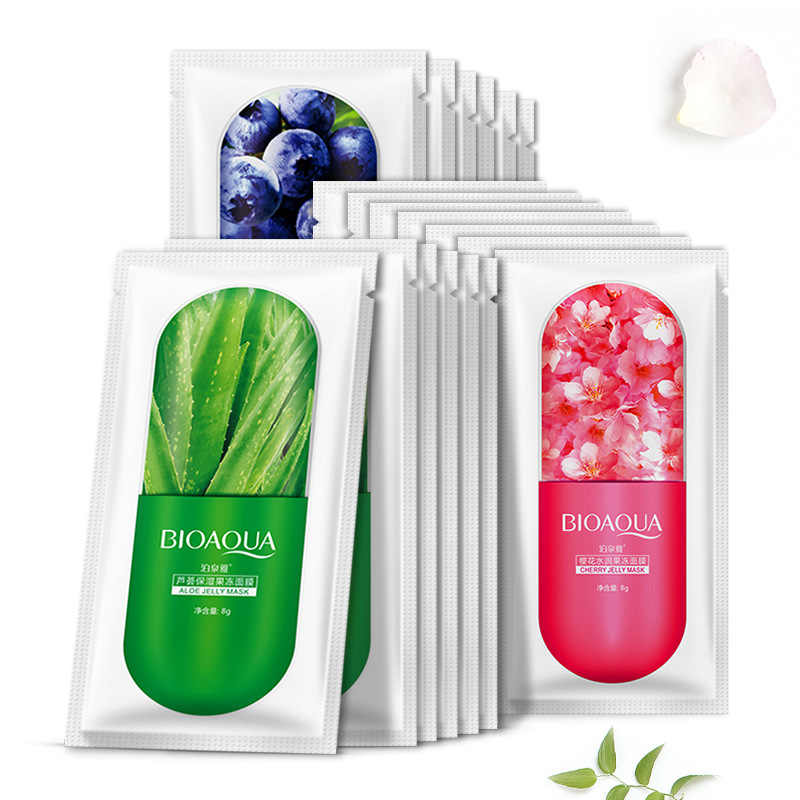 3 Color HOT Skin Care Aloe Vera Blackberry Plant Facial Mask Moisturizing Oil Control Wrapped Mask Face Mask Face Care