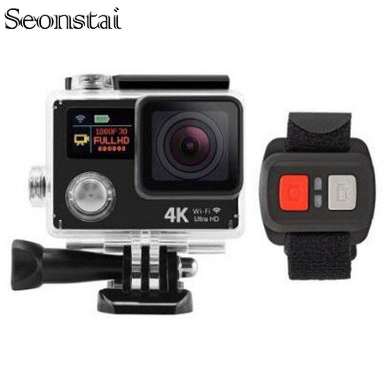 Cámara de Acción a distancia H3R/H3 Ultra 4 K Wifi Dual Pantalla de Vídeo cámara