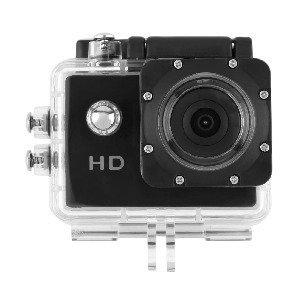 """Prix pour 30 M Étanche 12 Mega HD 720 P Haute Vitesse USB2.0 Web caméra DV Caméra Sport 2.0 """"LCD Portable noir"""