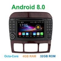 Восьмиядерный Android 8.0 dvd плеер автомобиля для Mercedes/Benz S Class W220 W215 S280 S430 S500 с BT wi Fi GPS Радио 4 ГБ Оперативная память