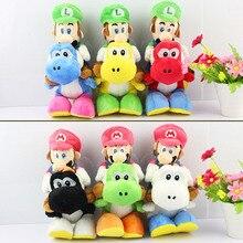 """1 шт. Супер Марио Bros Плюшевые """" 20 см 6 цветов Марио езда Йоши Плюшевые куклы Луиджи езда Йоши Плюшевые игрушки"""
