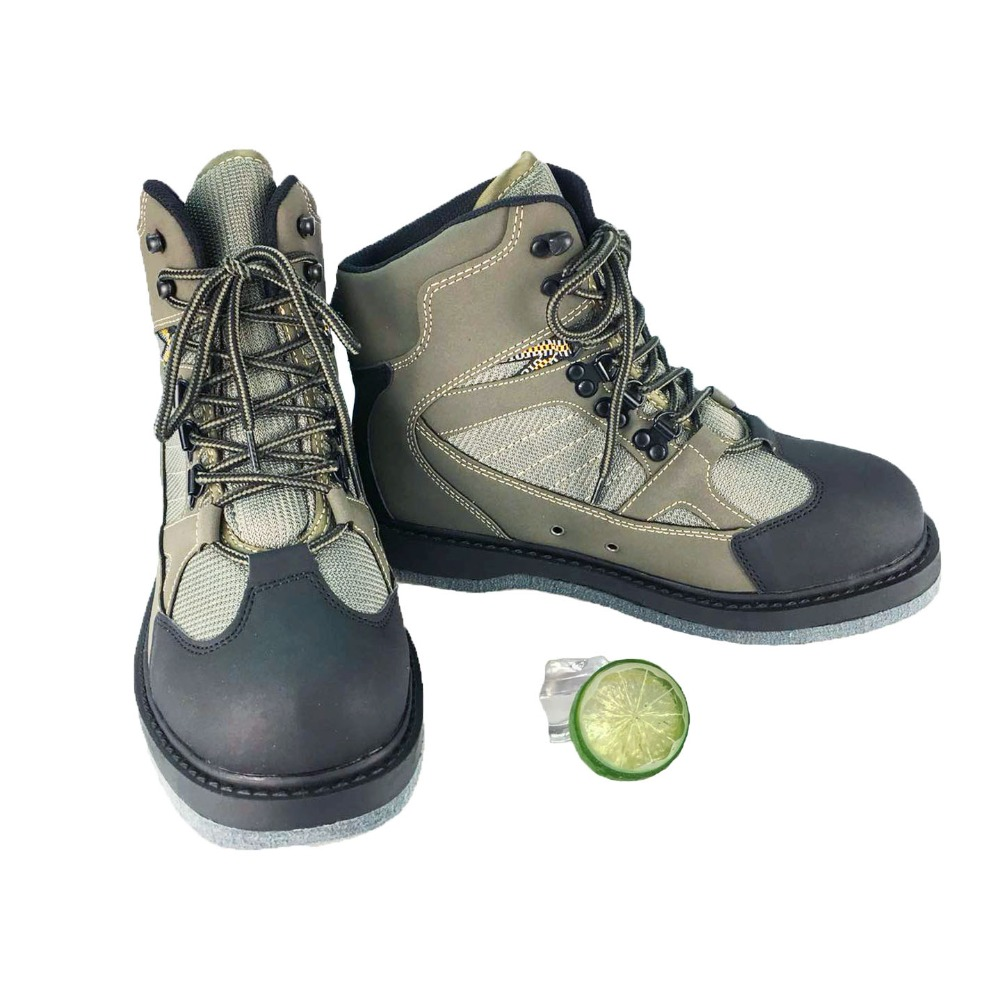 De pêche à Gué En Amont Chaussures Fuite D'eau Chaussures Feutre ou En Caoutchouc Anti-Glissante Sole Respirant Professionnel Rock Chaussures ZH01