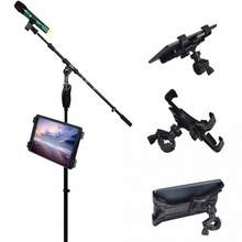 360 Degree Swivel Adjustment Music Mic Microphone Stand Tablet Holder Mount Holder for Apple ipad Samsung Google Tablet PC(China)