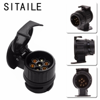 SITAILE 12V 13 To 7 Pins Plug Adapter Electrical Converter Truck Trailer Connector Standard Round Hole