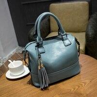 Fashion Women's Genuine Leather Handbags Woman Bag 2018 Tassel Messenger female Crossbody Bags For Women Shoulder Chain Bags X43