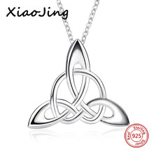 XiaoJing New arrivals 100% 925 sterling silver diy design knot pendant chain necklace  fashion jewelry making for women gifts