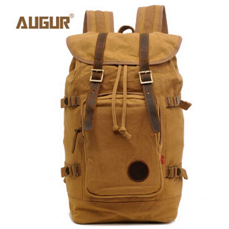 Big Capacity 2016 High Quality Canvas Drawstring Backpack Men School Bag Should Bags Mochila Bagpack Rucksack Size:48*29*16.5 cm big capacity high quality canvas shark double layers pen pencil holder makeup case bag for school student with combination coded lock