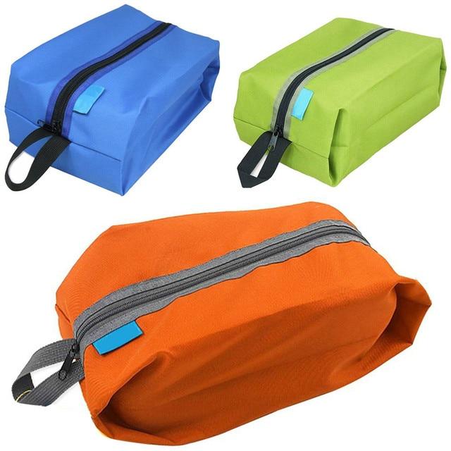 Portable Waterproof Travel Shoe Bag Nylon Foldable Storage Organizer