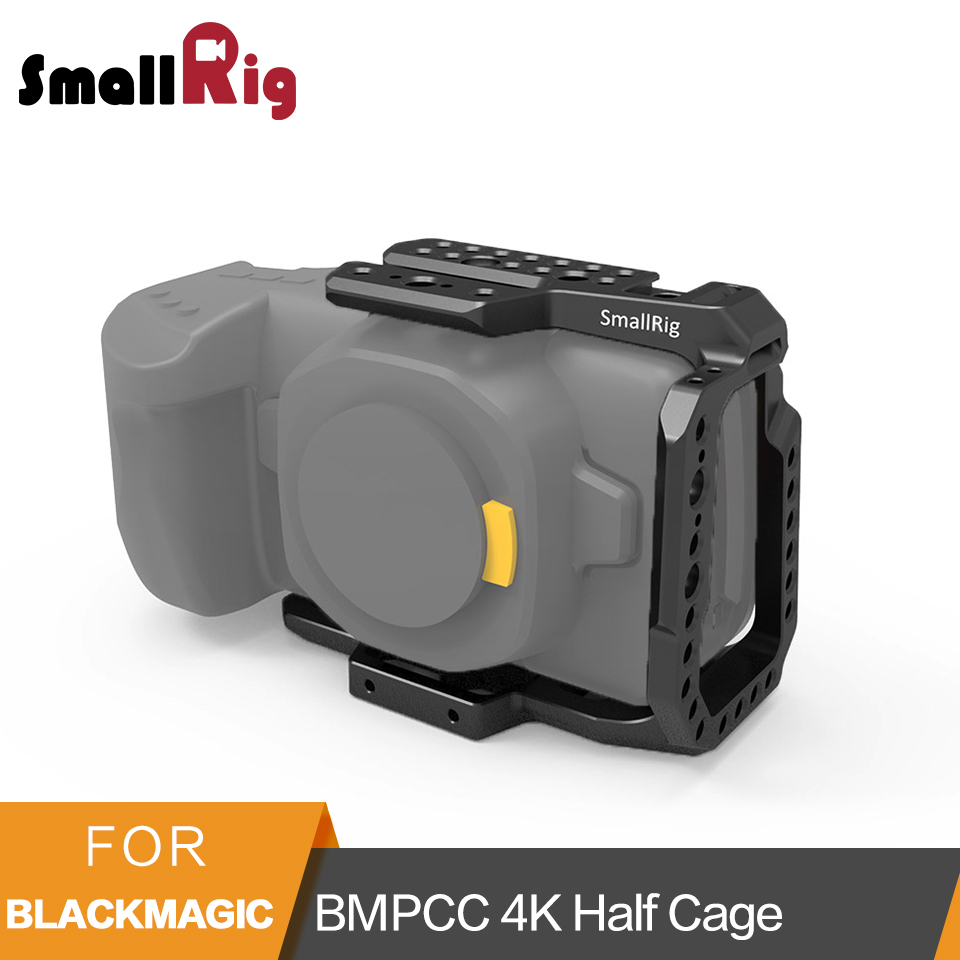 SmallRig BMPCC 4K Half Cage for Blackmagic Design Pocket Cinema Camera Cage With Nato Rail Arri Locating Hole Could Shoe - 2254 smallrig mount for samsung t5 ssd card holder mount compatible with smallrig cage for bmpcc 4k 2203 2245