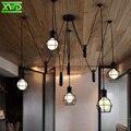 Pés de aranha do vintage luzes pingente de ferro suporte da lâmpada e27 110-240 v casa de café/sala de jantar/clube/restaurante iluminação free grátis