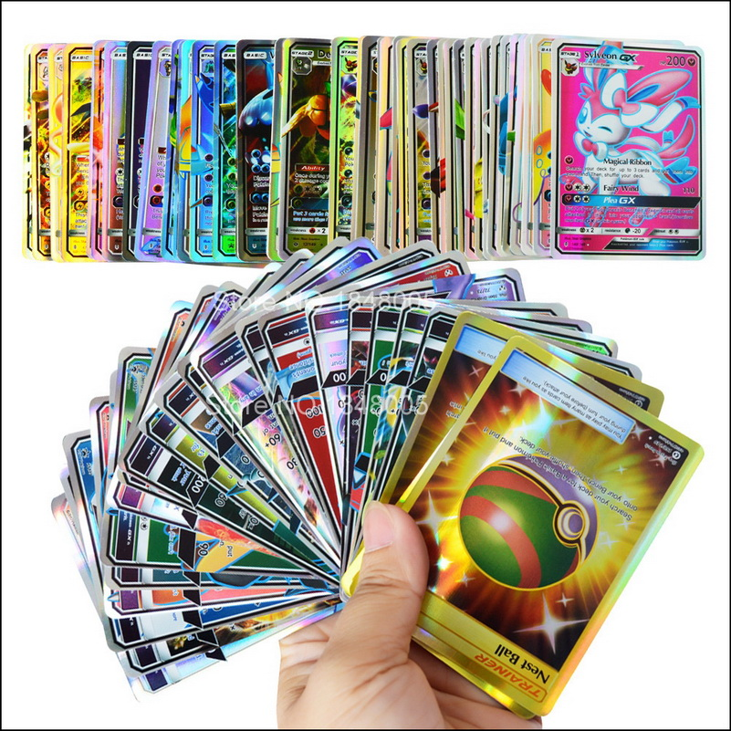 200 Pcs 120 60 100pcs Shining Pokemones Cards Game Battle Carte Trading Cards Game Children Toy(China)