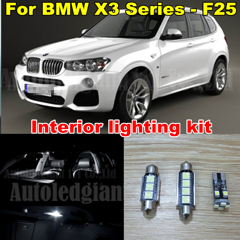 WLJH 20x Canbus White Car Dome Vanity Puddle LED for BMW X3 Series - F25 LED Interior lighting kit - Pack Bulb 2011~2014 us art supply® brand premium high quality 5x7 white picture mat matte sets includes a pack of 25 white core bevel cut mattes for 4x6 photos pack of 25 white core backers