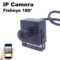 Fisheye IP Camera Mini 1 7mm Lens 180 Degree Large Vision 1080P 960P 720P Security Surveillance