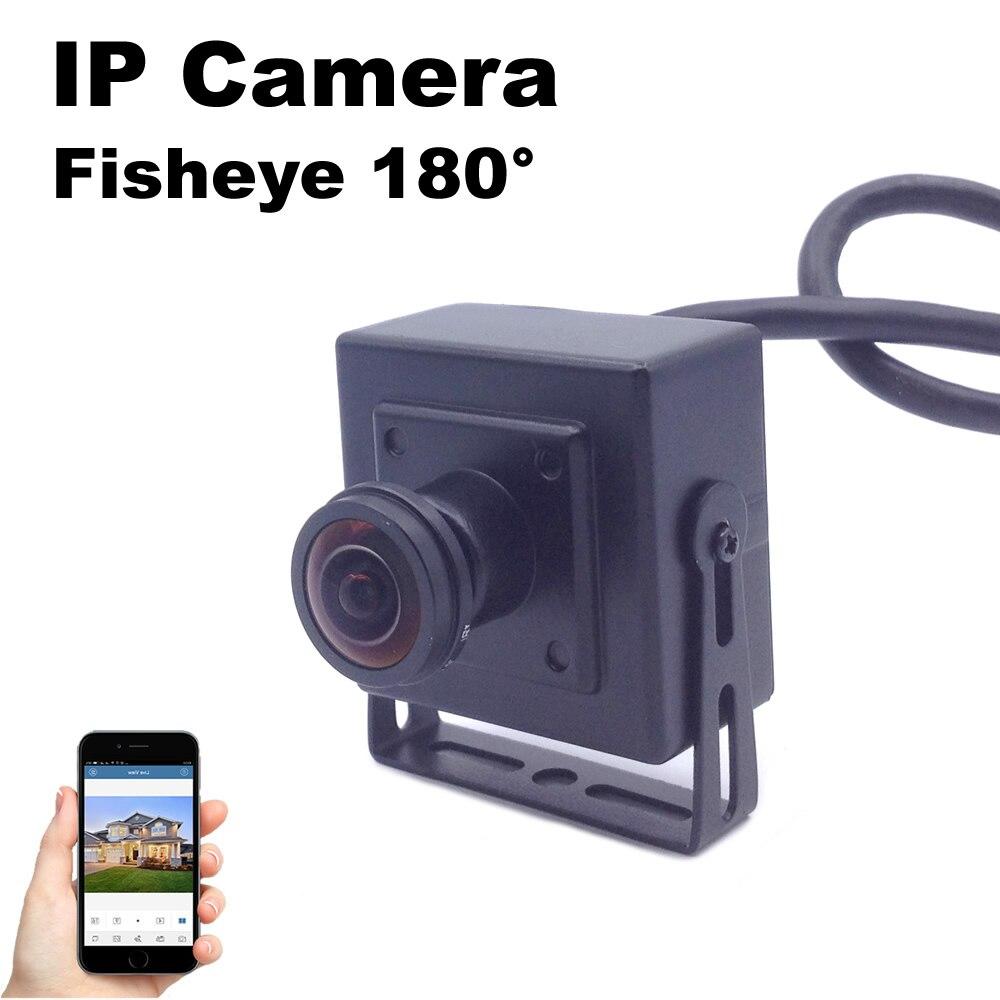 Fisheye-ip-kamera Mini 1,7mm Objektiv 180 grad Große Vision 1080 P/960 P/720 P Sicherheit Überwachungskamera 2MP Metallgehäuse
