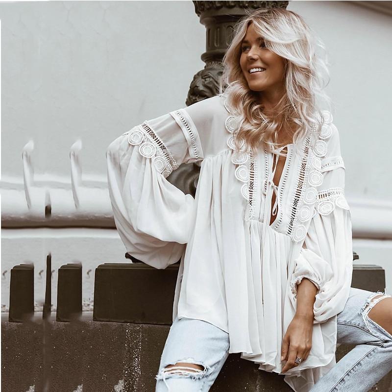 Женские блузки для отпуска, дизайнерские топы в богемном стиле для подиума, элегантные белые кружевные шифоновые блузки с кисточками для ле